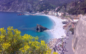 cinque terre from portofino, monterosso
